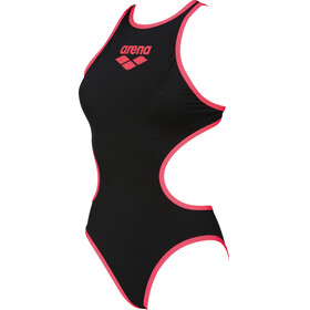 arena One Biglogo One Piece Swimsuit Women black-fluo red